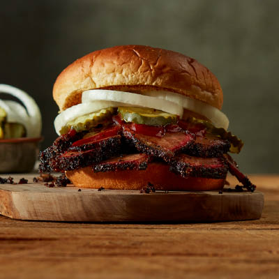 Sliced Brisket Sandwich