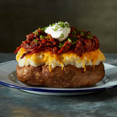 Loaded Baked Potato with Chopped Brisket